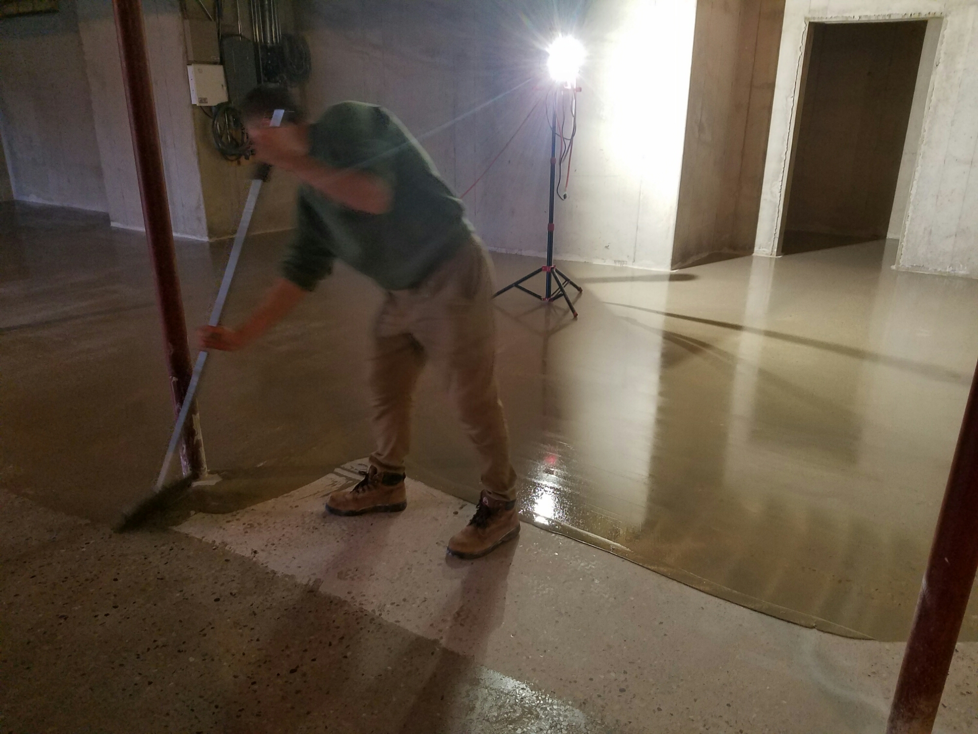 Epoxy grouting system for polished concrete floors for Caring for polished concrete floors